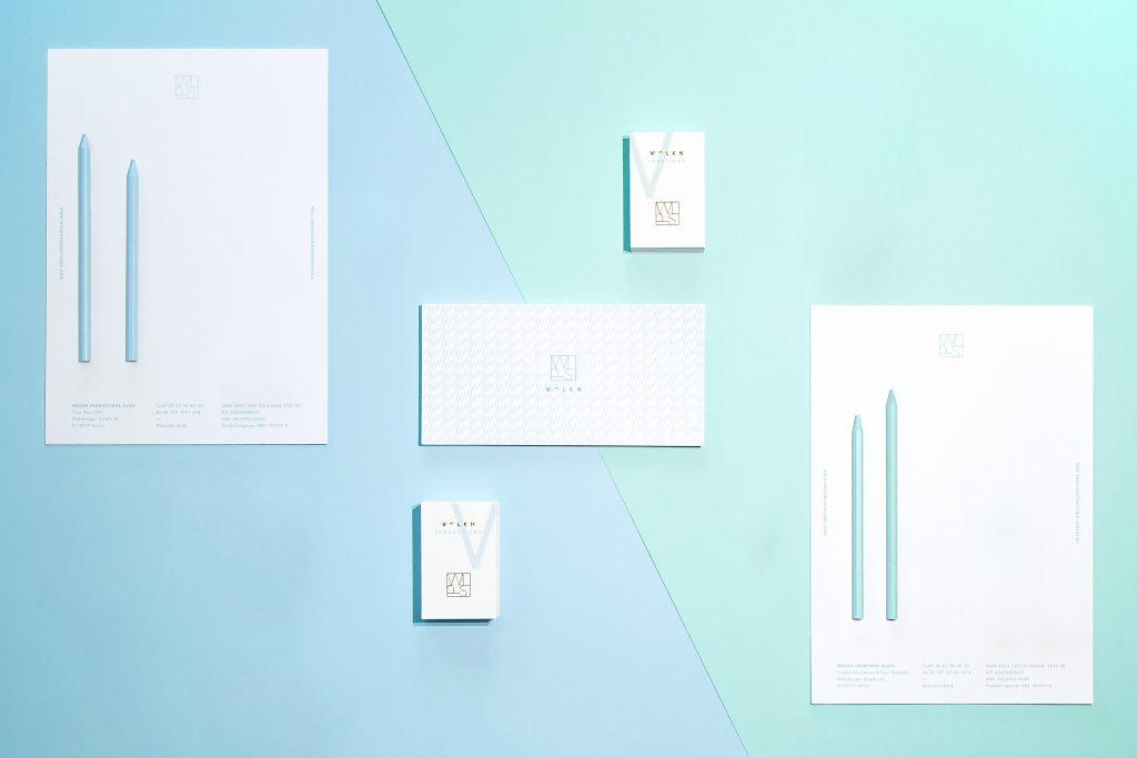 Briefpapier, Visitenkarten, Complimentcards Wolkn